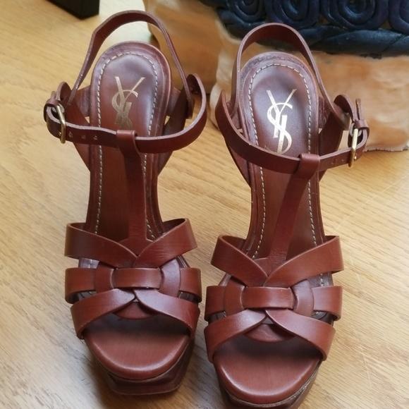 88b75f148e Saint Laurent Tribute Patent 135mm Sandal